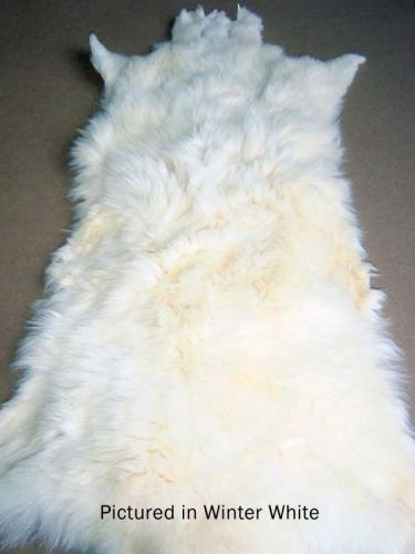 Winter White Possum Fur Hide
