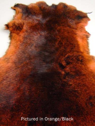 Black/Orange Possum Fur Hide