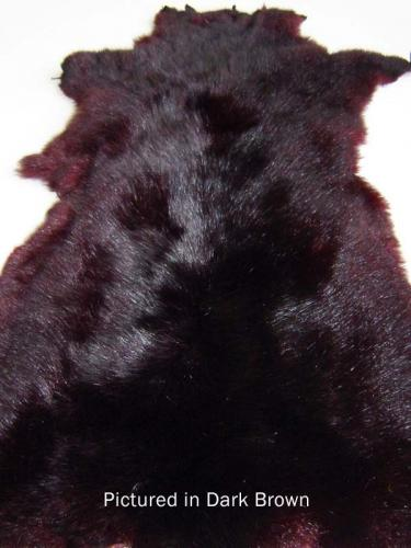 Dark Brown Possum Fur Hide