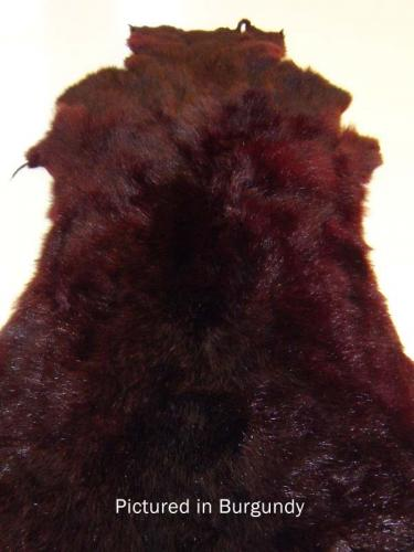Burgundy Possum Fur Hide