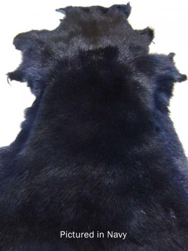 Navy Blue Possum Fur Hide