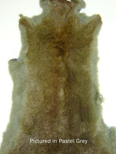 Pastel Grey Possum Fur Hide