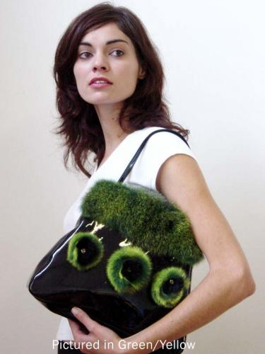 Green Possum Fur Rose Bag