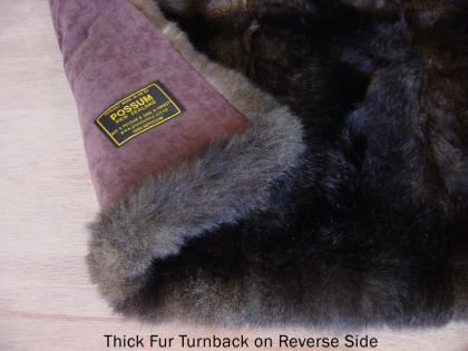 Possum Fur Half Bed Throw Turnback