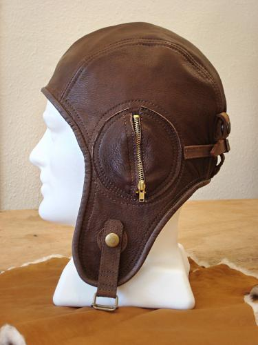 Side view - Deerskin Air Force Hat - Suede Lined