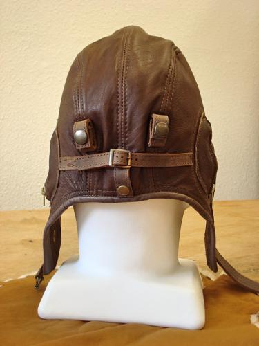 Back view - Deerskin Air Force Hat - Suede Lined