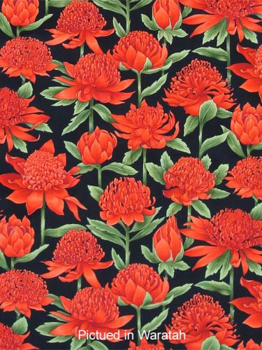 Waratah Print Apron Close up