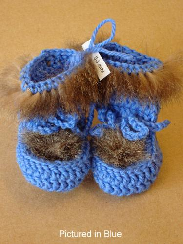 Blue Baby Booties - High Cut