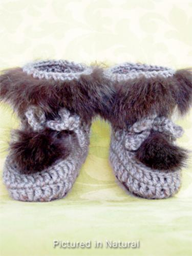 Natural Baby Booties - High Cut
