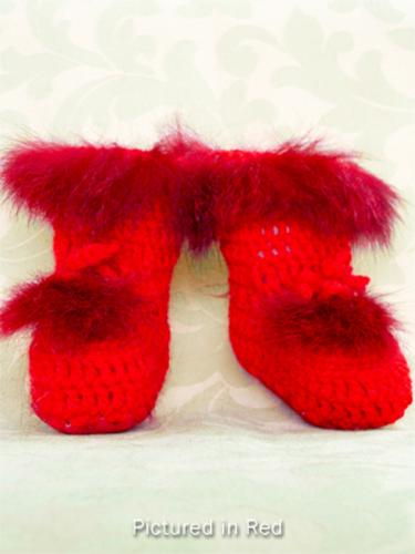 Red Baby Booties - High Cut