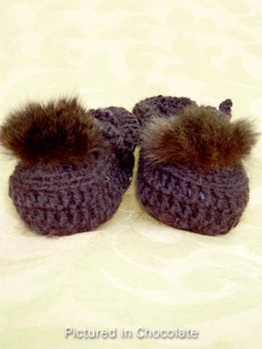 Chocolate Baby Booties - Low Cut