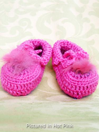 Hot Pink Baby Booties - Low Cut