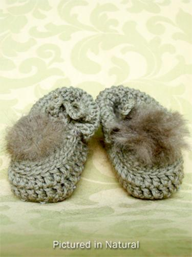 Natural Baby Booties - Low Cut