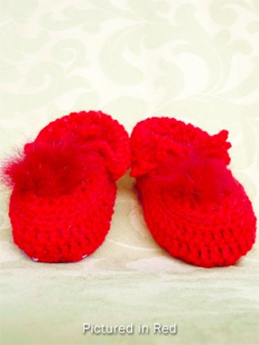 Red Baby Booties - Low Cut