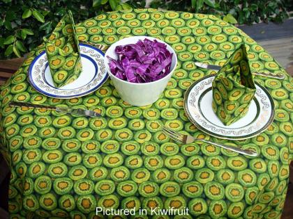 Kiwifruit Cafe Set - Tablecloth & Napkins