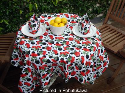 Pohutukawa Cafe Set - Kiwiana Tablecloth & Napkins