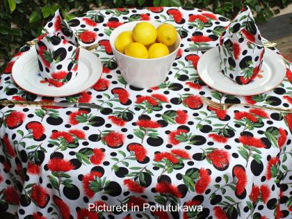 Kiwiana Pohutukawa Cafe Set - Tablecloth with Napkins