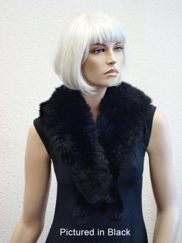 Black Possum Fur Charleston Wrap