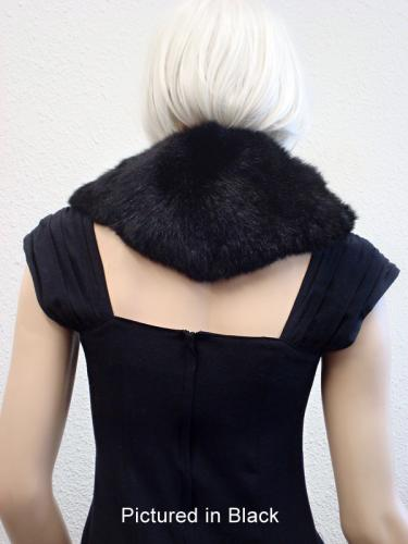 Black Possum Fur Charleston Wrap Back View