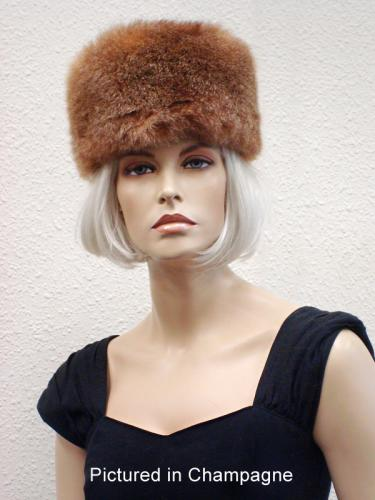 Champagne Possum Fur Cossack Hat