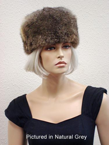 Natural Grey Possum Fur Cossack Hat