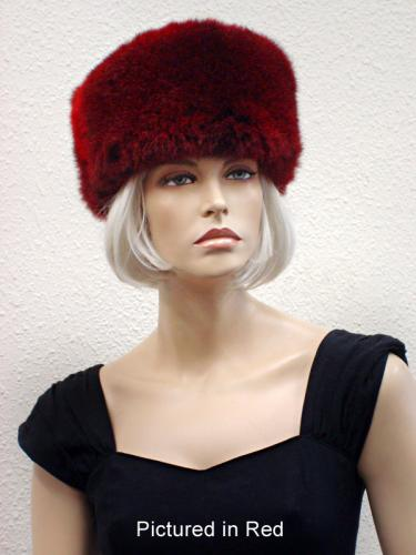 Red Possum Fur Cossack Hat
