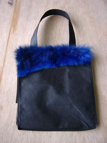 Possum Fur Blue Trim Eco Bag