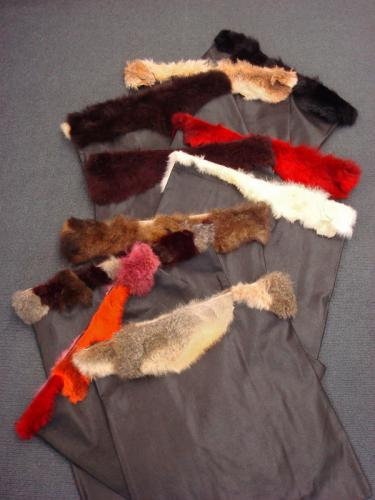 Possum Fur Trimmed Gift Bag