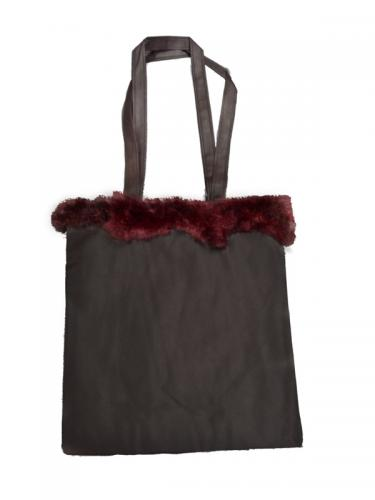 Possum Fur Trimmed Eco Bag