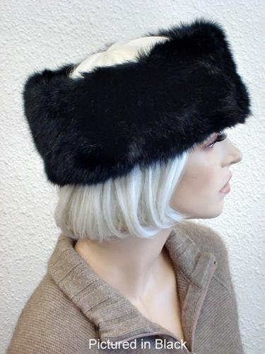 Black Possum Fur Headband