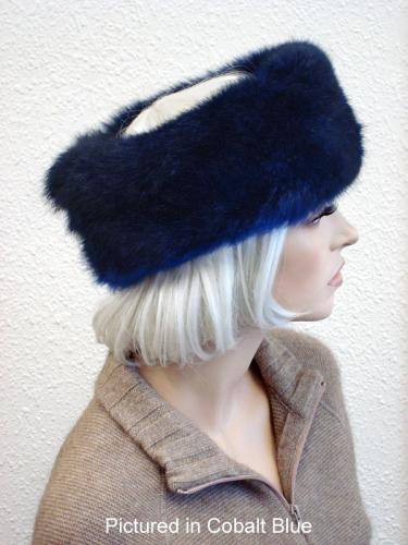 Cobalt Blue Possum Fur Headband