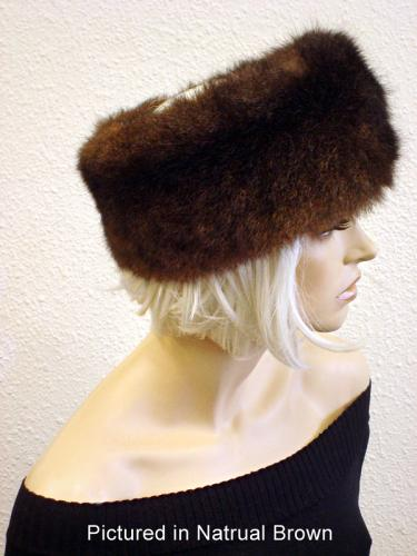 Natural Brown Possum Fur Headband