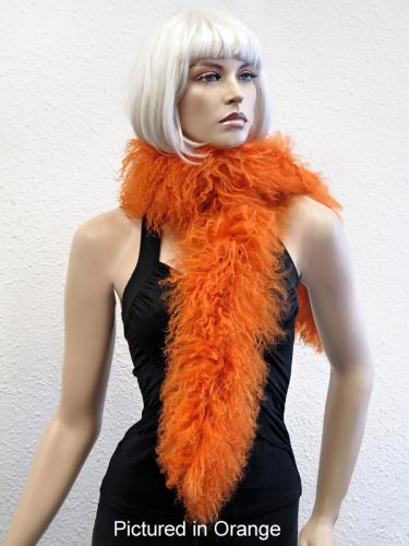 Orange Multi Mongolian Lamb Scarf