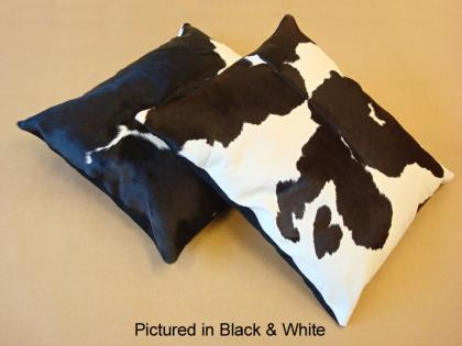 Black & White Moomoo Cowskin Cushion Cover