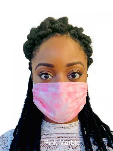 Pink Marble Face Mask Surgical Solotone