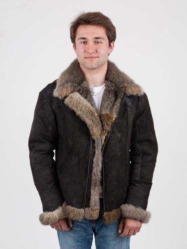 Men's possum fur air force jacket