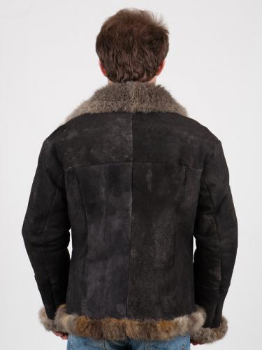 possum fur air force jacket back view
