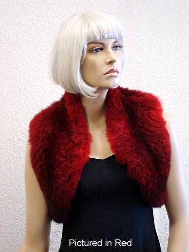 Red Possum Fur Bolero Vest