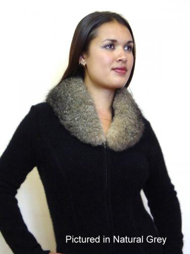 Black Possum Fur Carolina Collar