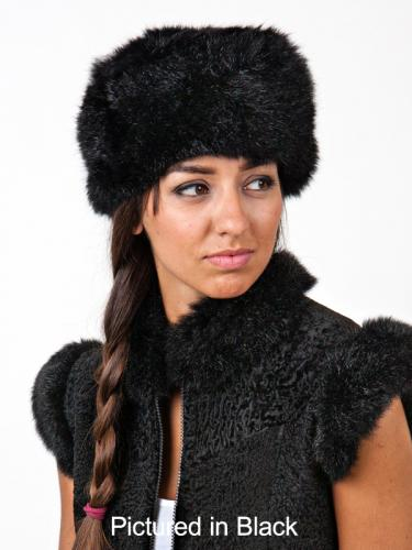 Black Possum Fur Cossack Hat