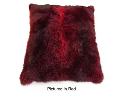 Red Possum Fur Cushion Cover