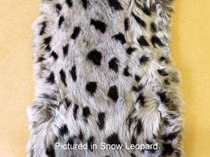 Possum Fur Hide Snow Leopard Print