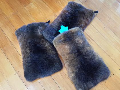 Possum Fur Hot Water Bottle Cover in Natural Brown