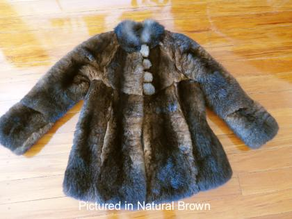 Natural Brown Custom Possum Fur Coat