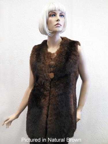 Natural Brown Possum Fur Mimi Vest