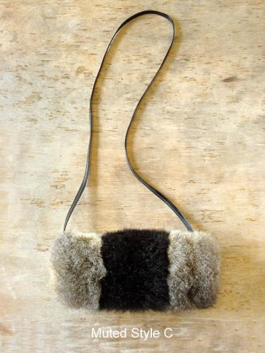 Possum Fur Pencil Case Bag Muted Style C