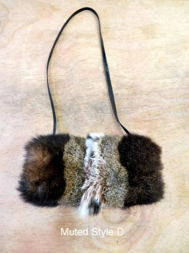 Possum Fur Pencil Case Bag Muted Style D