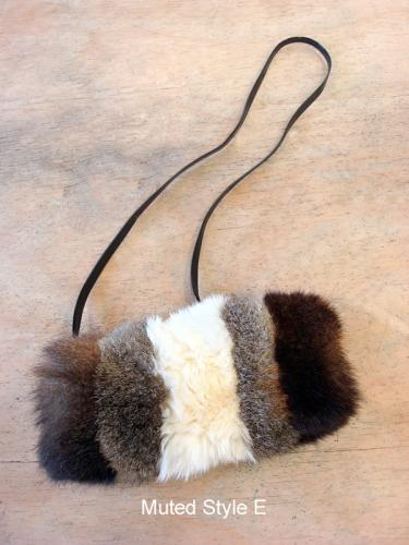 Possum Fur Pencil Case Bag Muted Style E