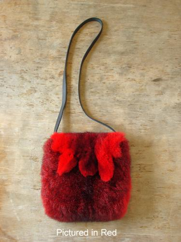 Red Possum Fur Raw Edge Bag