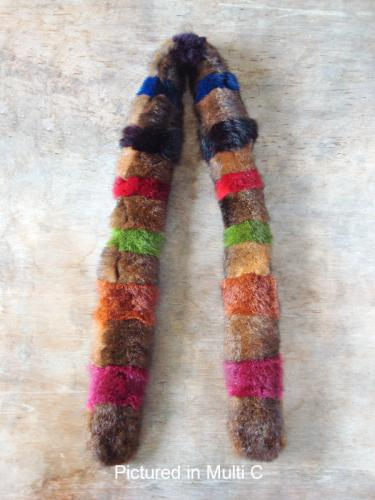 Multi C Possum Fur Harlequin Scarf